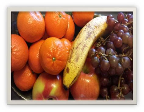 Top View of Fruit Basket
