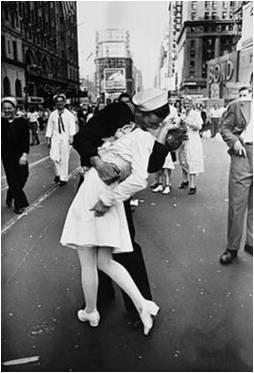 Sailor kissing the Nurse
