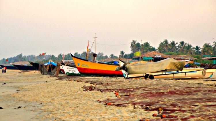 Fishermen boats at Varca