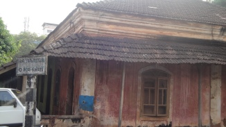 Old bungalow in ruins