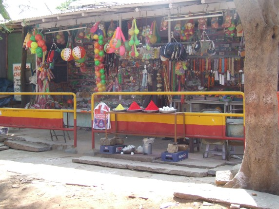 A toy store in a village - South India