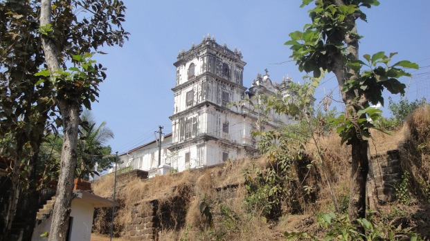 Side view of an old Church - Goa