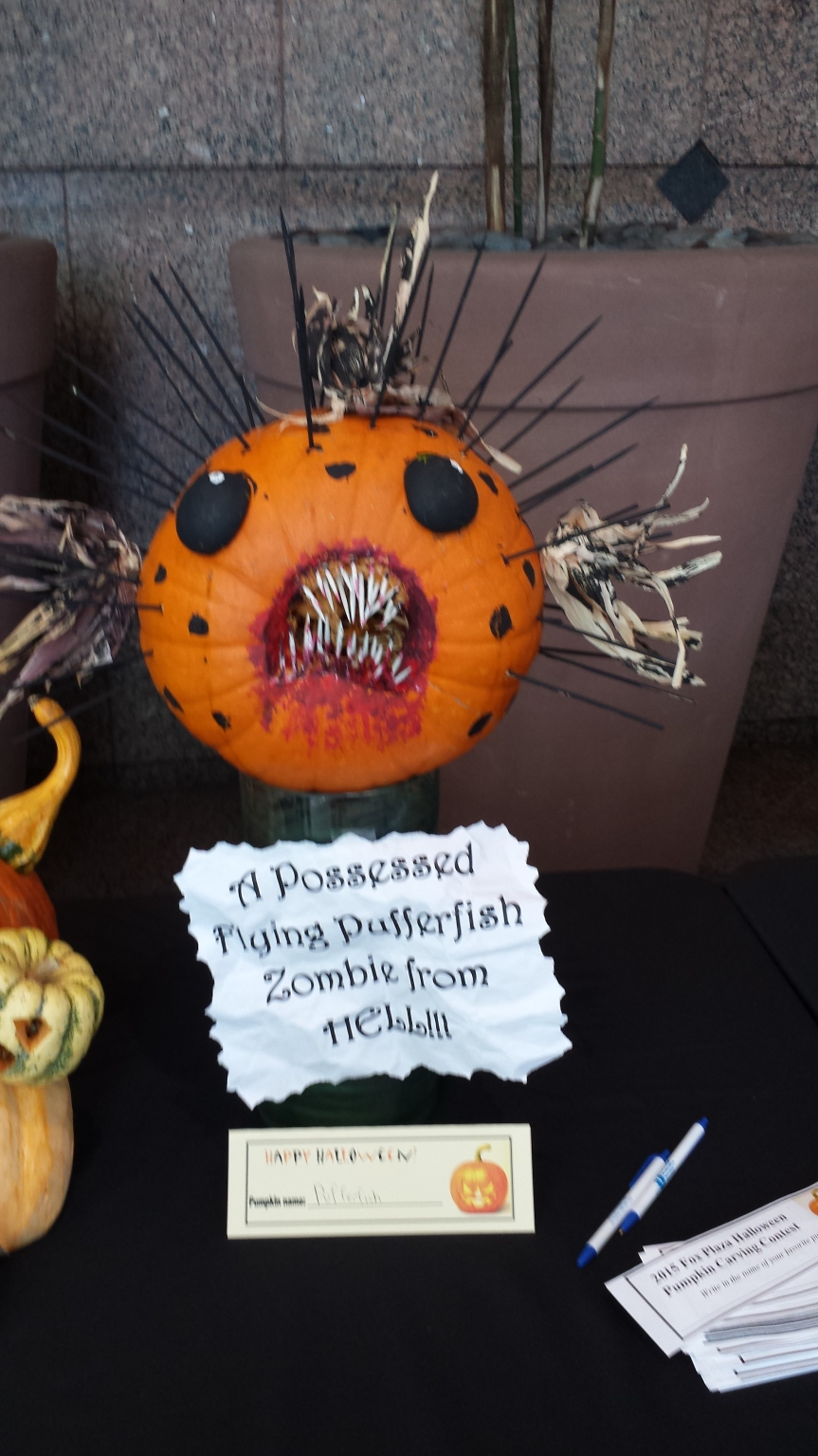 Entries from a local Pumpkin carving contest
