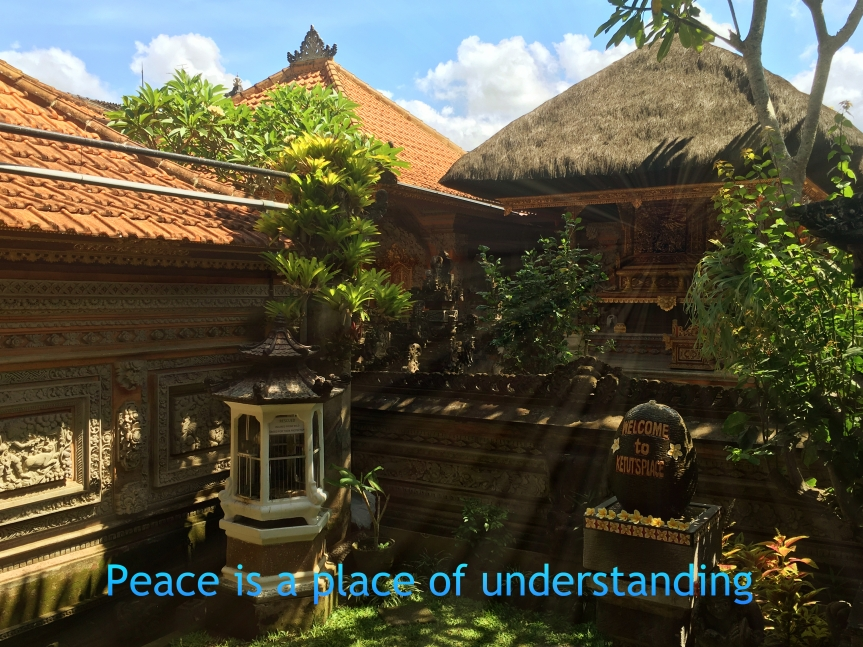 Peace is a place in yourmind