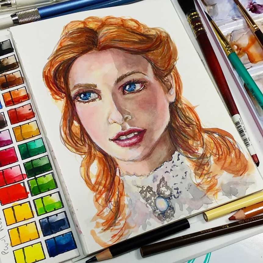You Asked For it! Real Time Watercolor Portrait Lesson!